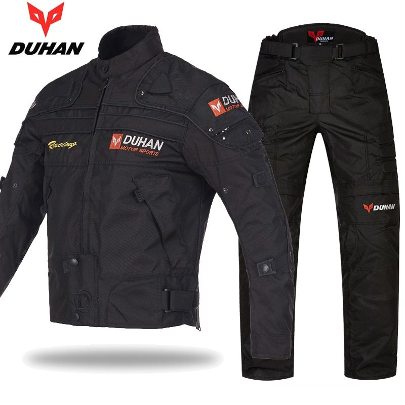 Original DUHAN Motorcycle Protective Jacket Racing Jackets pants suits 600D Oxford Drop Resistance Moto Clothing jackets