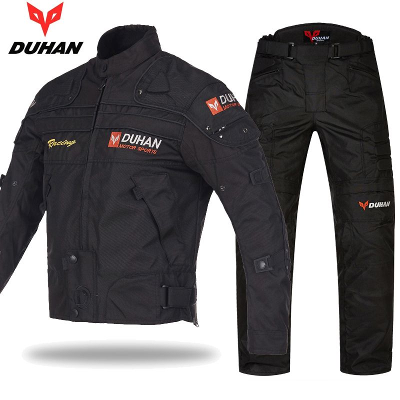 Original DUHAN Motorrad Schutzhülle Jacke Racing Jacken hosen anzüge 600D Oxford Fallschutz Moto Kleidung jacken