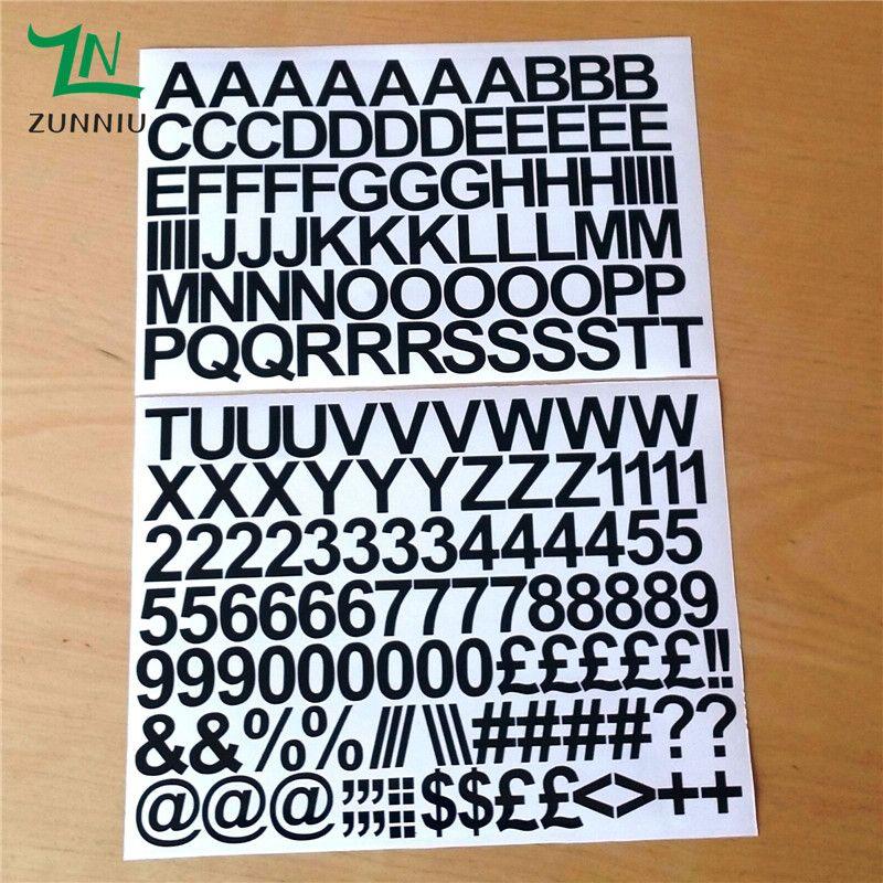 T07066 écologique 2 cm auto-adhésif vinyle autocollant lettres et chiffres enfants intérieur décoratif autocollants décalque décor à la maison