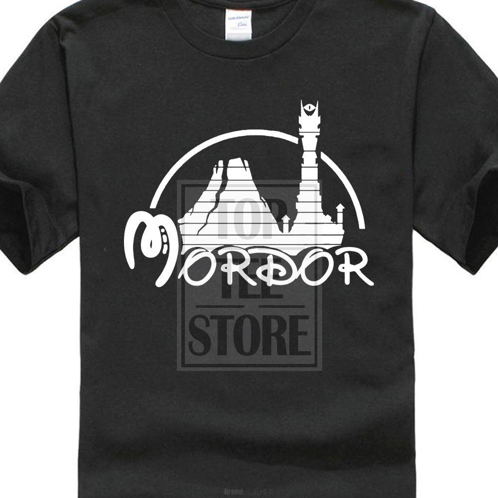 2017 nouveau Hipster Mordor seigneurs des anneaux Tolkien Hobbit 3D imprimer hommes 100% coton t-shirt été populaire à manches courtes t-shirts
