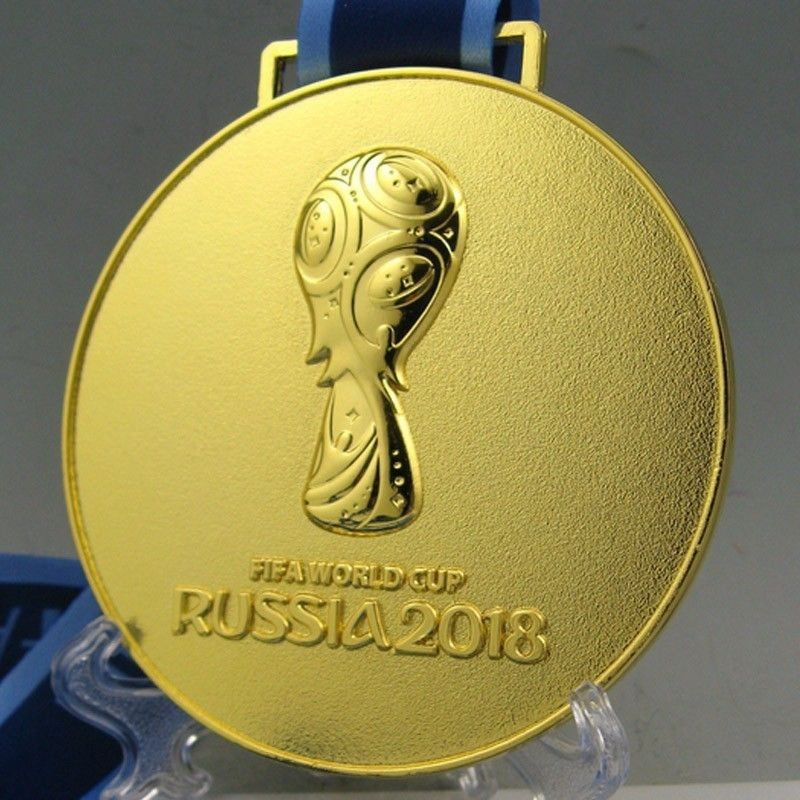 2018 World Soccer Cup Champions France Gold Medal Metal Copy French Badges Russia Football Fans Memorabilia Medaille Insignia