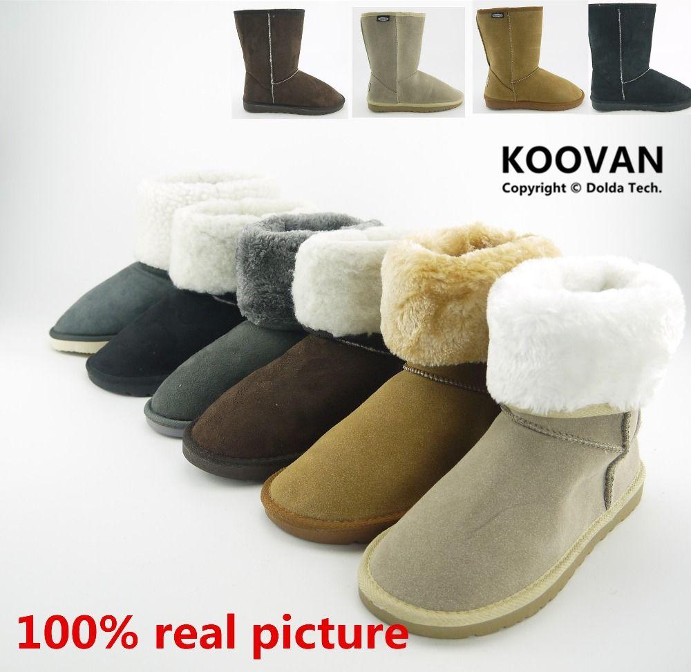 Koovan Mujeres Botas 2017 Mujeres Del Invierno Botas de Nieve de Las Mujeres Causales Zapatos de Los Planos de Algodón Acolchado Botas botas de Mujer Cálida Moda WXGM004