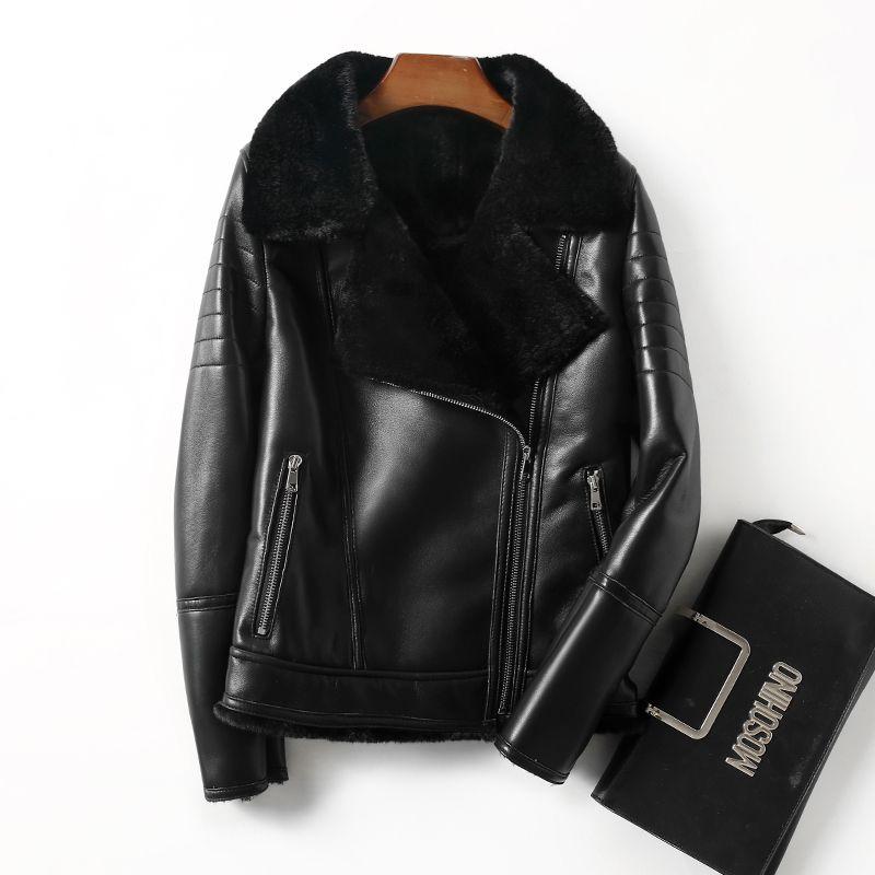 Echtpelz Mantel Aus Echtem Leder Jacke Frauen Kleidung 2018 Schaffell Winter Jacke Frauen Koreanische Wolle Jacke Schafe Lammfell ZT545