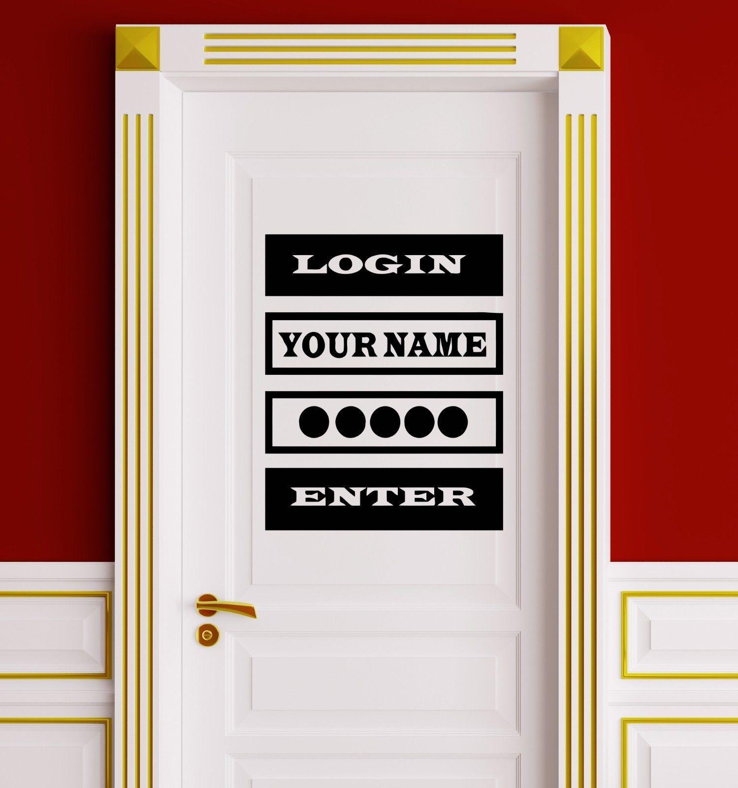 Hwhd детская комната Виниловая Наклейка Цитата пароль для входа видео компьютерной игры двери наклейки Бесплатная доставка