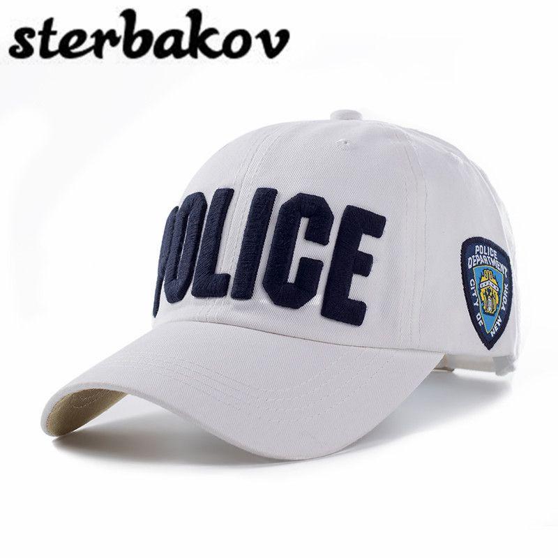 100% coton adultes et enfants Police casquette de Baseball hommes casquette tactique hommes casquettes de Baseball marque Snapback camionneur chapeau pour homme femmes