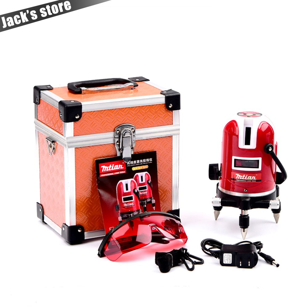 Mtian, 5 lines 6 points laser level Tilt Function 360 rotary Self Lleveling <font><b>cross</b></font> laser line leveling outdoor model tools