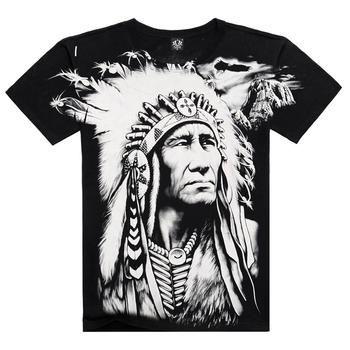 New T shirt Men Summer Style 2016 Fashion Men's Cotton Short Sleeve 3D Printed Indian Character Men Tops Hip Hop T shirts