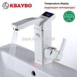3500 W calentador de agua eléctrico instantáneo toque instantáneo eléctrico de agua caliente grifo sin tanque de calefacción baño grifo de la cocina