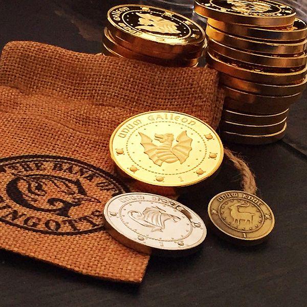 Хогвартс Косплей партии аксессуары Гринготтс банка волшебный монеты галеоны памятная монета творческий ребенок подарок