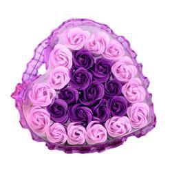 Cool! 24 Pcs Coeur Parfumée Corps Bain De Pétale Rose Fleur Savon De Mariage Décoration Cadeau Saveur Papier Fantaisie Savon 2018 Anne