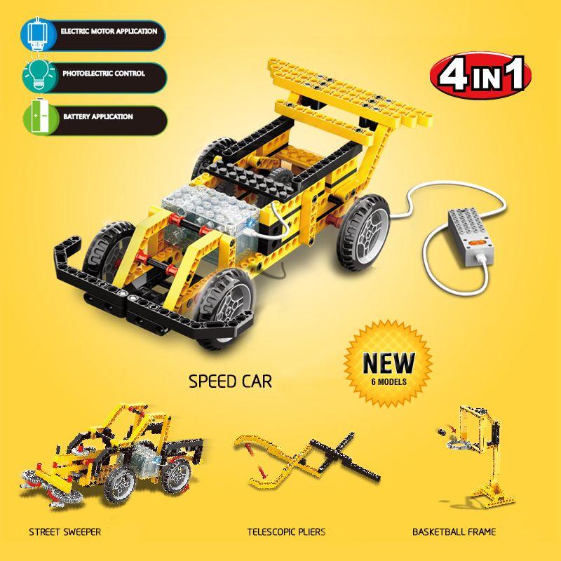 Bloques de Construcción de Wange Energetico 4en1 Technic Motor Eléctrico de juguete Juguetes Educativos Coche de Juguete Niños Ladrillos Compatible con lepin