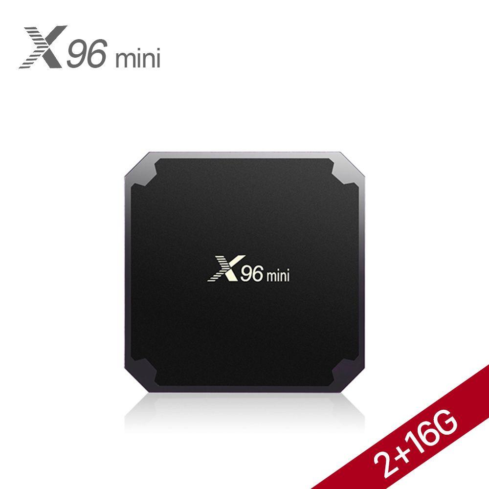 X96 mini TV Receiver Android 7.1 Smart TV BOX 2GB 16GB Media Player Amlogic S905W Quad Core Wifi 4K Internet TV Set-top Box