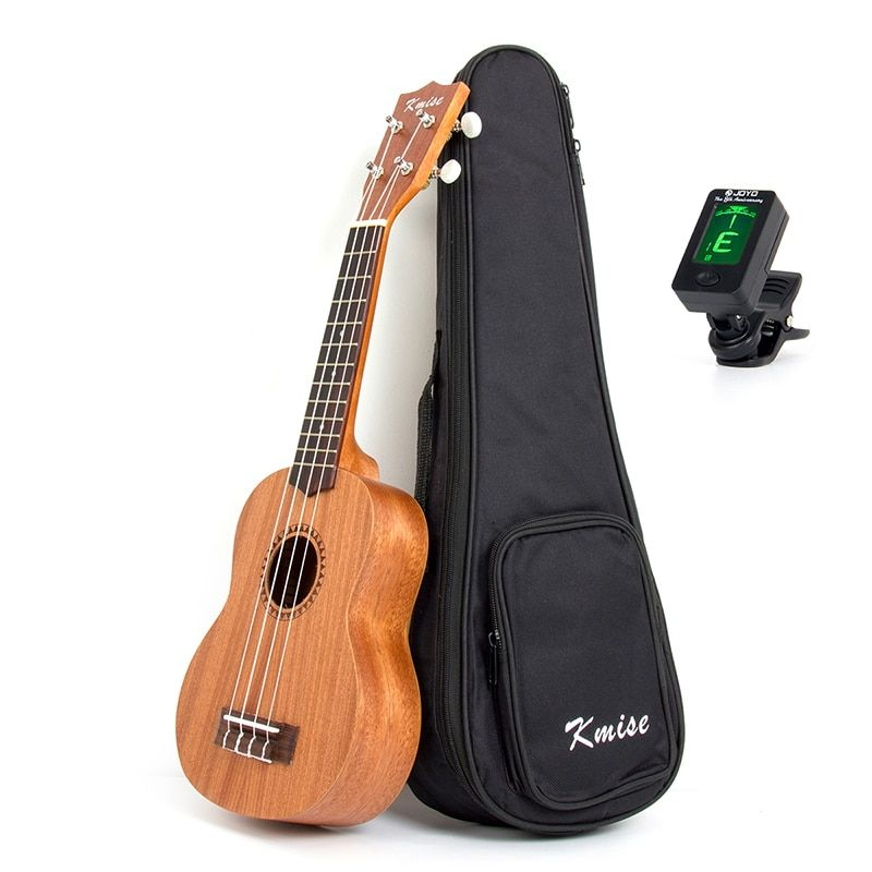 Kmise Soprano Ukulele 21 inch Ukelele Uke Sapele 12 Frets Musical Instrument 4 String Hawaii Guitar with Gig Bag Tuner
