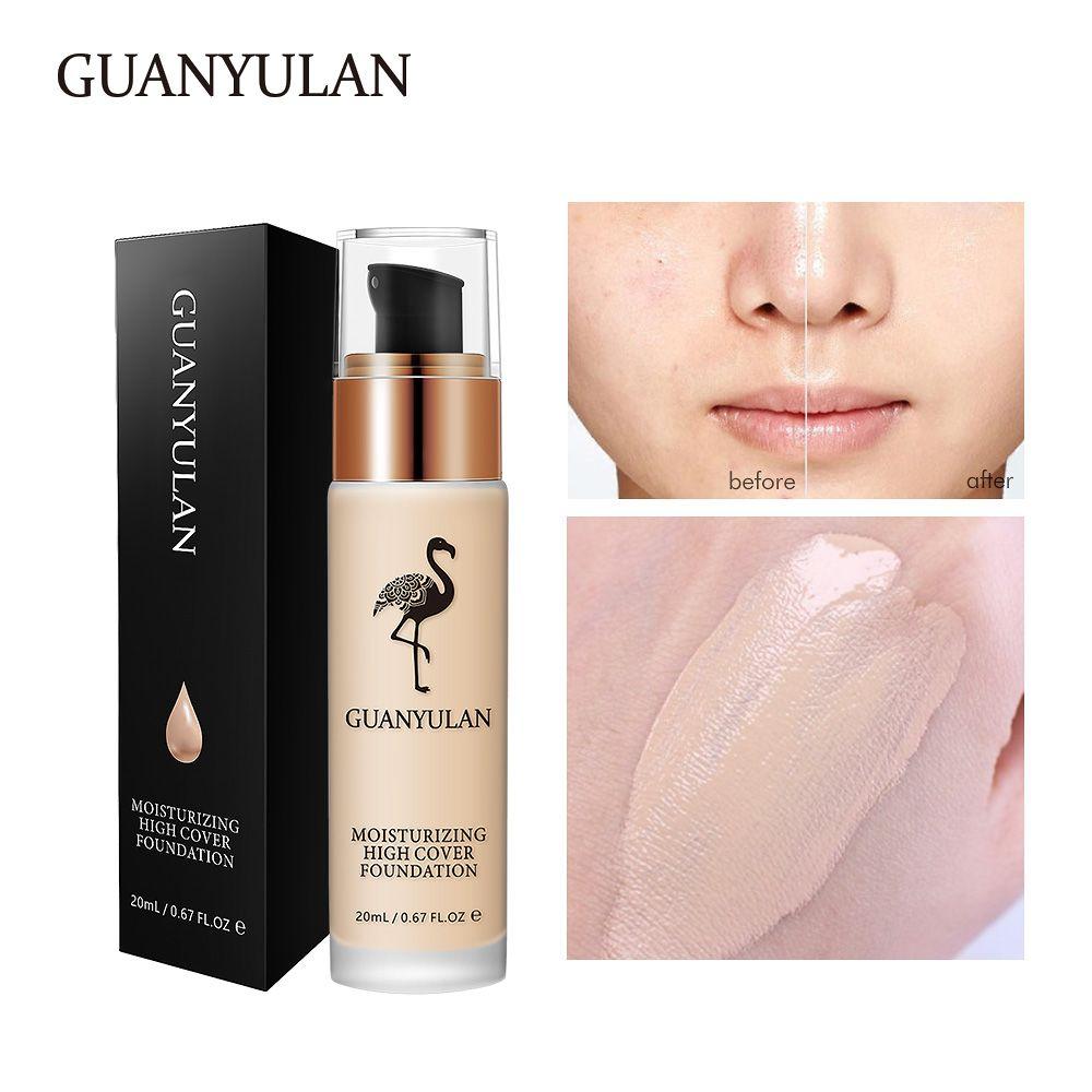 GUANYULAN Liquide Fondation Invisible Couverture Complète Maquillage Correcteur Blanchiment Hydratant Étanche Maquillage Fondation 20 ml
