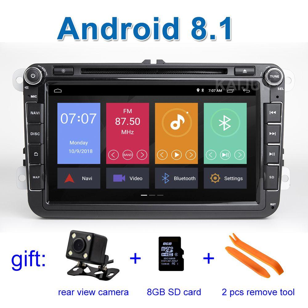 Android 8.1 Auto DVD-Stereo-Player Radio GPS für VW PASSAT CC Jetta Golf 5 6 Tiguan Touran Caddy EOS Sharan polo Leon Toledo