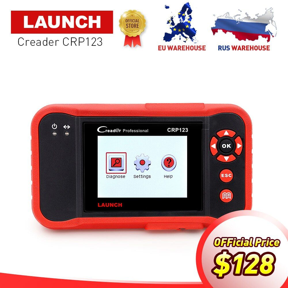 LAUNCH Creader CRP123 obd2 code reader Auto Diagnostic Tool Test Engine ABS SRS Airbag AT CRP 123 Scanner PK Creader vii+ AD610
