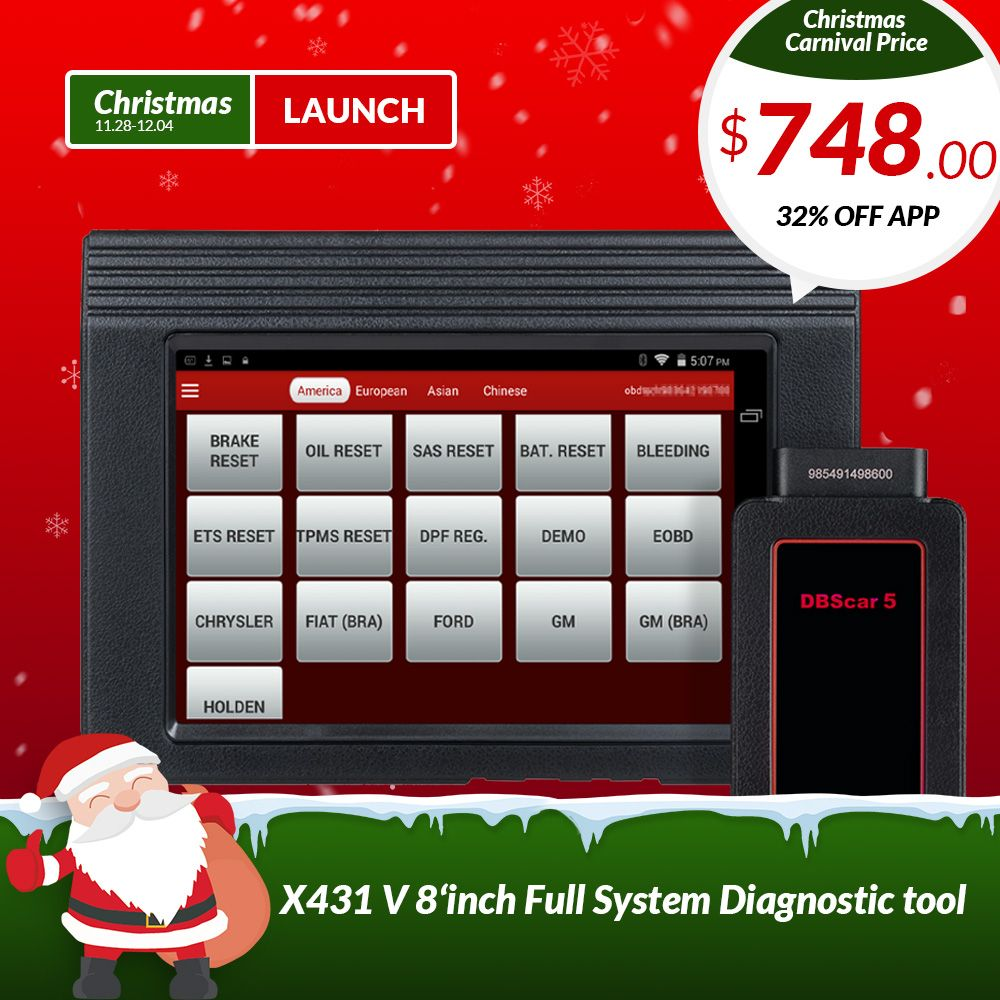 LAUNCH X431 V 8 global version full ECU system diagnostic scanner X-431 V obd2 Bluetooth/Wifi Scan tool used in 200+ countries