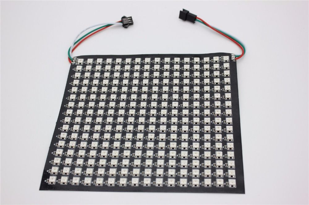 P10mm 16*16 pixels 256leds flexible mini led matrix ws2812 WS2812b
