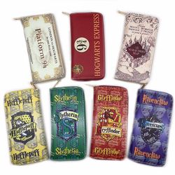 New Harry Potter Wallets men pruse male clutch zipper around wallets men women money bag pocket Card Holder mltifunction Cosplay