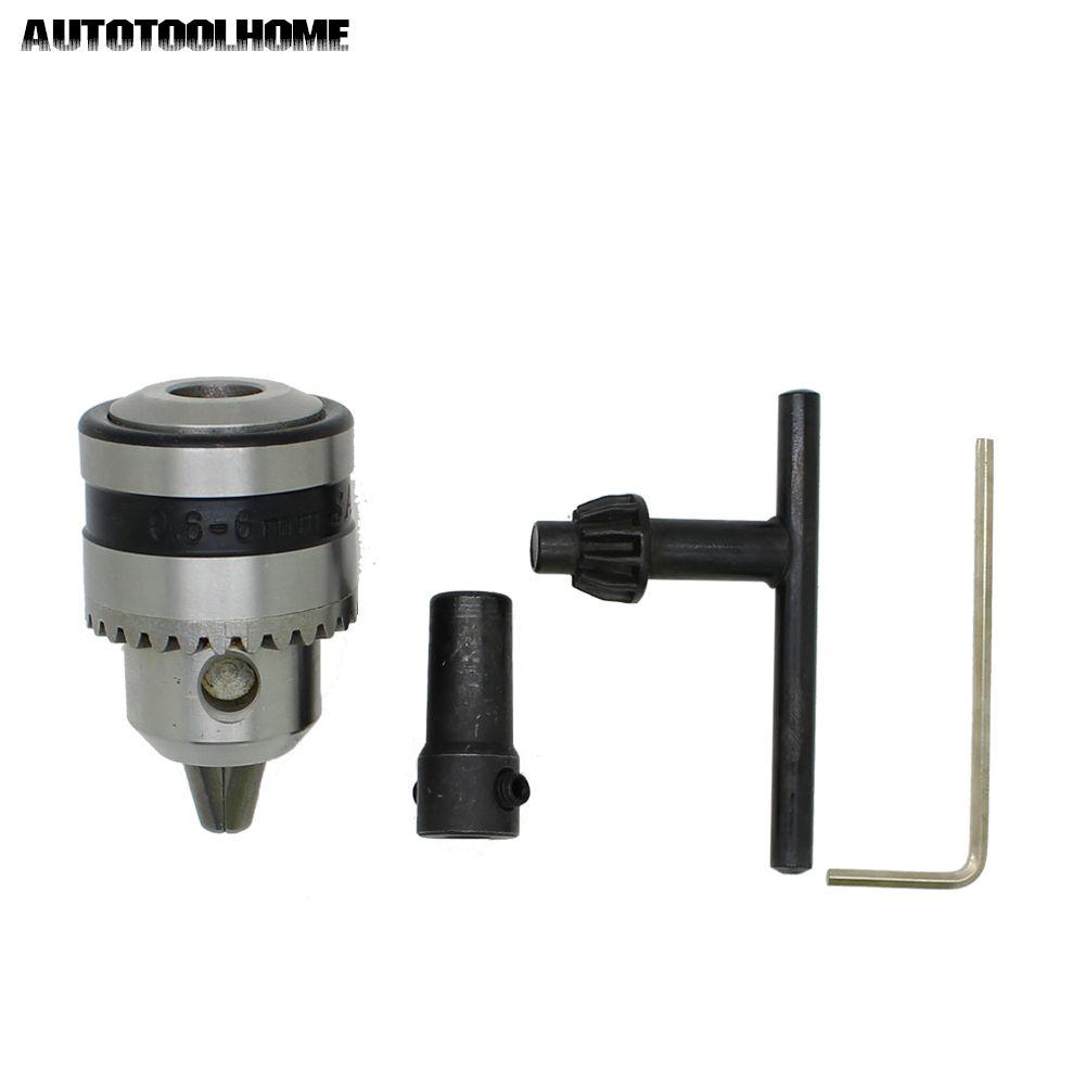 Мини сверлильный патрон 0,6-6 мм крепление B10 с 5 мм подключить стержень вала двигателя ключ Мощность инструменты аксессуары
