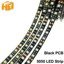 LED Strip 5050 DC12V Flexible LED Light, Black / White PCB, No Waterproof / Waterproof, 60LED/m 5M 300LED Fita LED Light Strips