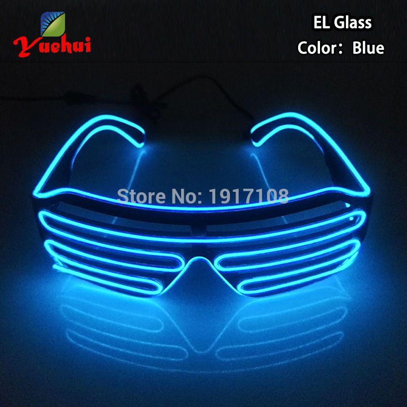 Crazy Hot EL lunettes à LED lumineux coloré danse rougeoyante DJ fête décorative obturateur lunettes avec 3 V clignotant/stable sur onduleur