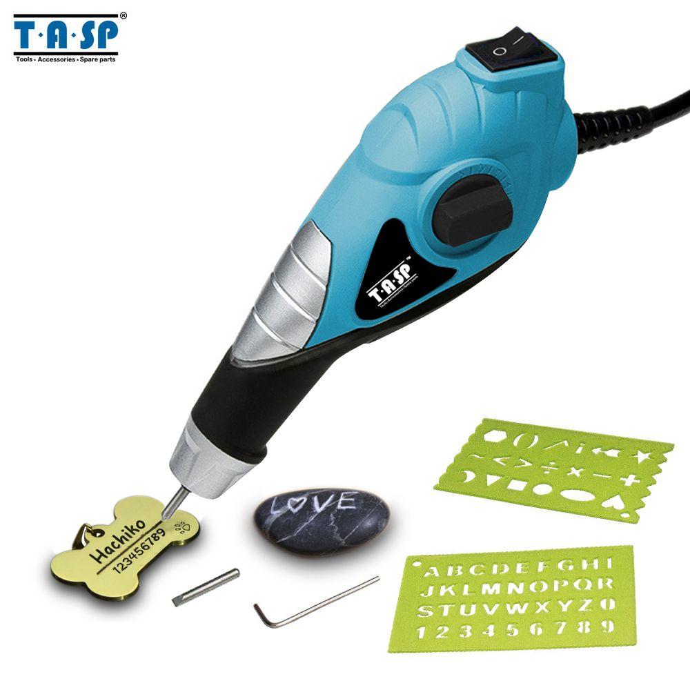 TASP 220V graveur électrique métal gravure stylo-carbure acier conseils pour acier bois plastique verre passe-temps outils électriques-MEGV13