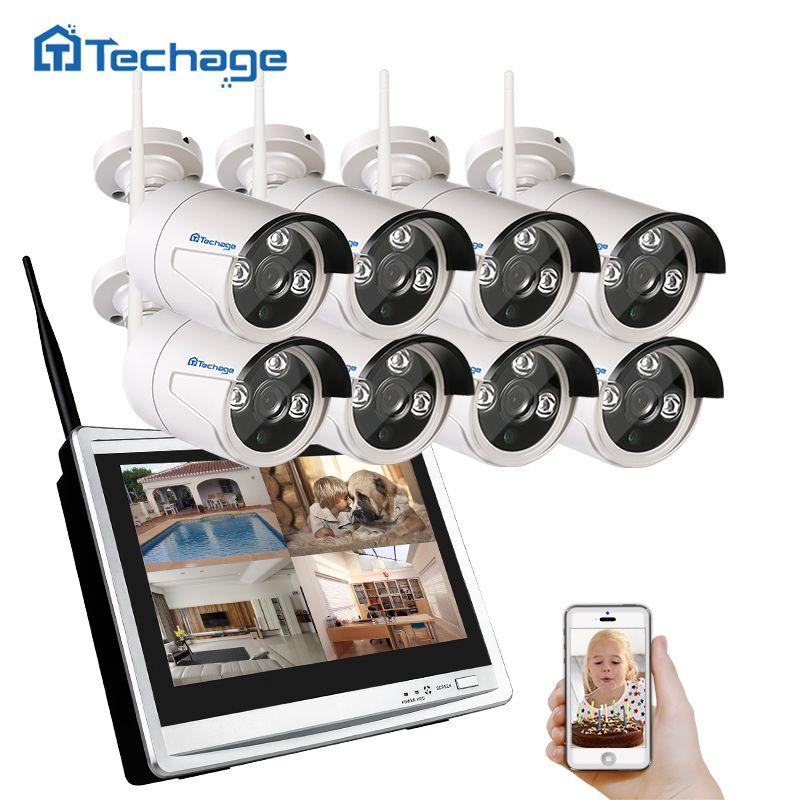 Techage 8CH 960 P Wireless NVR Wifi CCTV-System 12