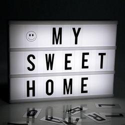 Hot Sale Putih Warna Iklan Lampu LED DIY Kombinasi Huruf Kotak Cahaya Lampu Malam untuk Menjual Pertemuan 6A/4A ukuran Freeship