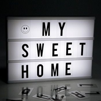 Hot Sale white color Advertising Lights LED DIY Letter Combination Light Box Night Lamp for Selling Meeting  6A/4A Size freeship