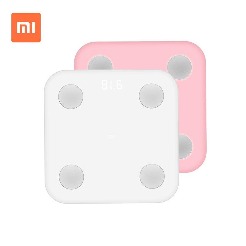 Hot Xiaomi Mi Body Composition Scale Smart Body Fat Scale Mifit APP&Body Composition Monitor Hidden LED Display Big Feet Pad