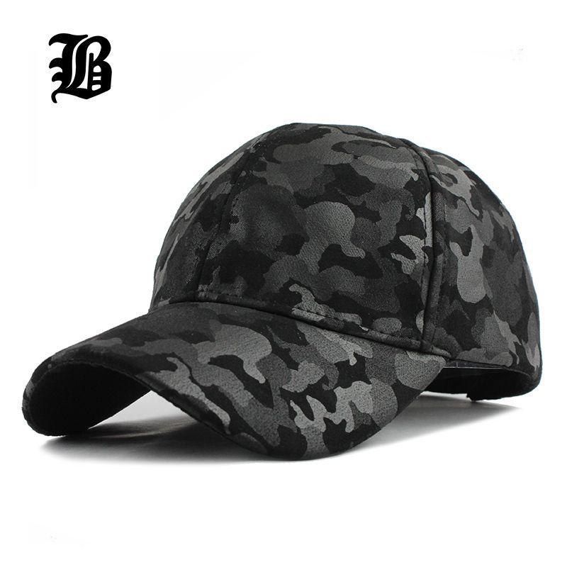 [FLB] 2019 ne vous laissera pas tomber hommes et femmes casquette de Baseball Camouflage chapeau Gorras Militares Hombre réglable Snapbacks casquettes F224
