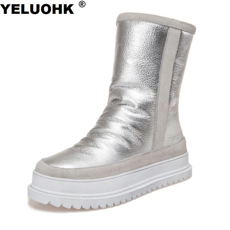 New Winter High Boots Women Shoes Warm Waterproof Snow Boots Platform Winter Shoes Woman With Fur Australia Boots Ladies Shoes