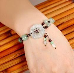 Cristal jade, bracelet bijoux, style national
