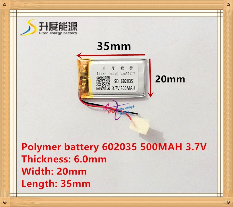 602035 062035 car battery 500mah lithium battery manufacturers WiFi mp3 story machine 3.7V lithium polymer battery