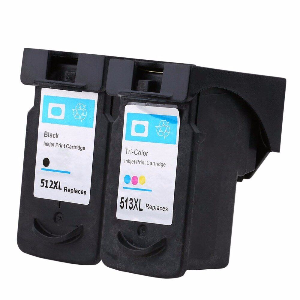 2Pcs PG-512 CL-513 PG512 For Canon 512 513 Ink Cartridges for Canon Pixma iP2700 MP240 MP250 MP260 MP270 MP280 MP480 MX350