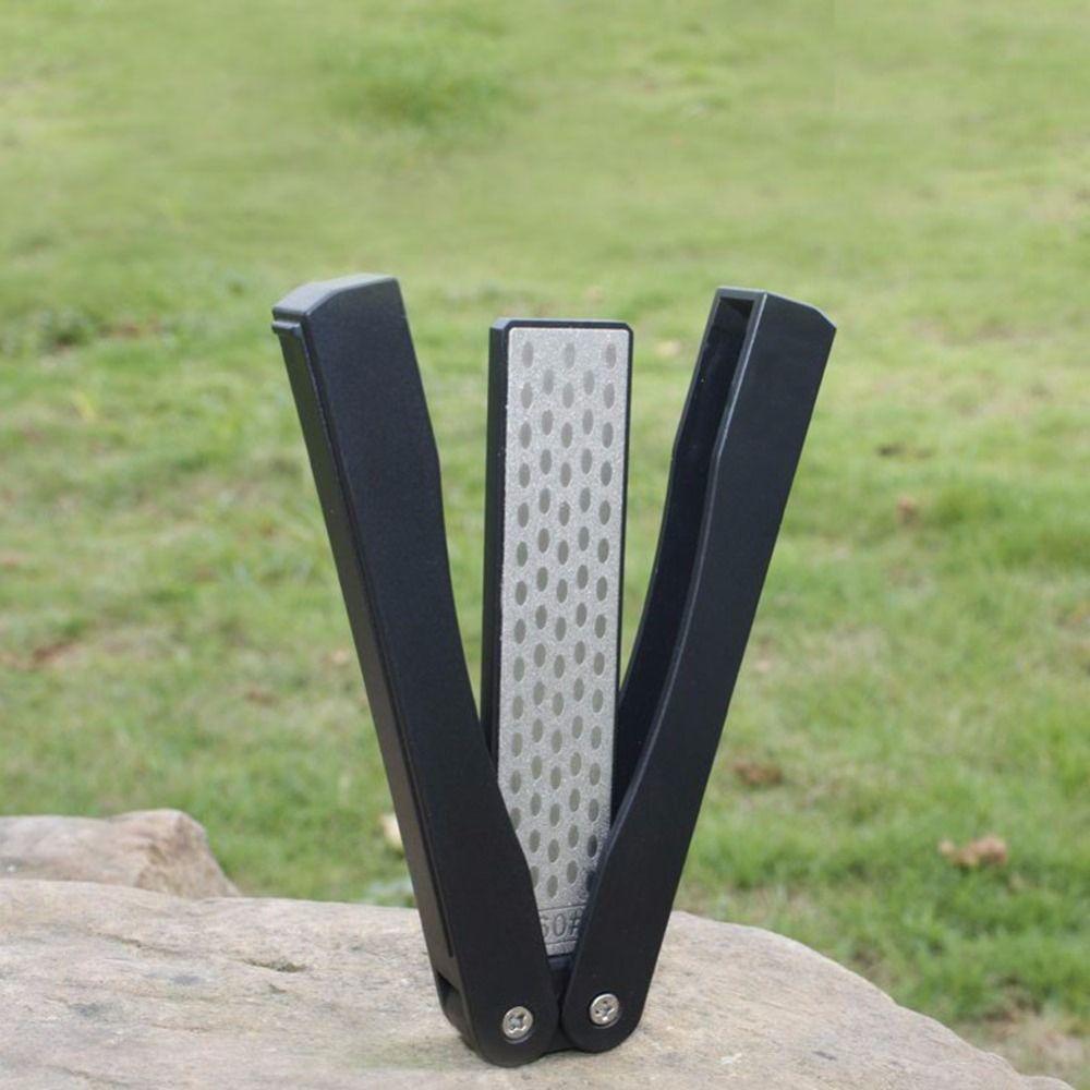 Улучшенный diamond заточка ножей камень для Отдых двухсторонняя сложенный карманный нож точильный камень