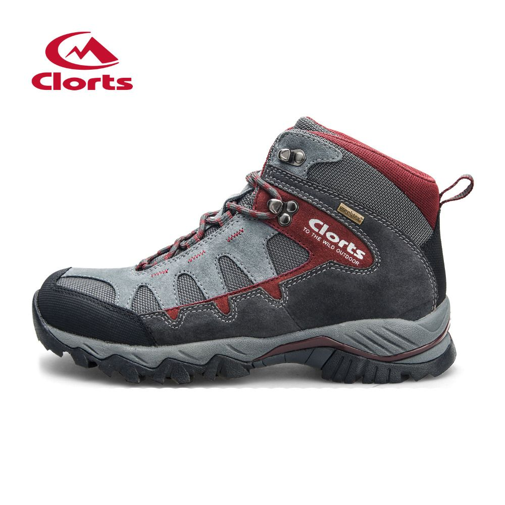 Clorts Hiking Shoes Men Outdoor Hiking Boots Waterproof Trekking Shoes Breathable Climbing Shoes HKM-823A/B/C/D