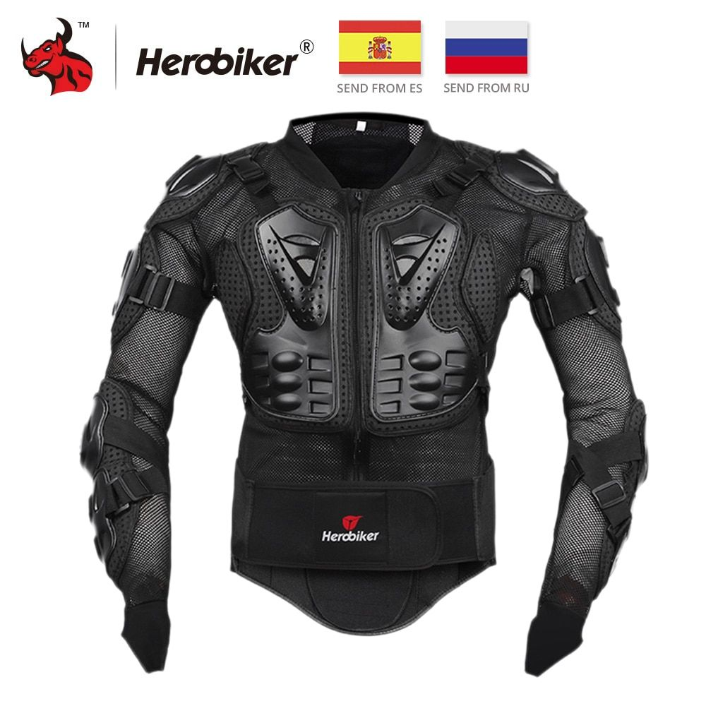 HEROBIKER Motorcycle Jacket Full Body Armor Jacket Motorcycle Armor Spine Chest Protective Gear Moto Protection Motocross Armor