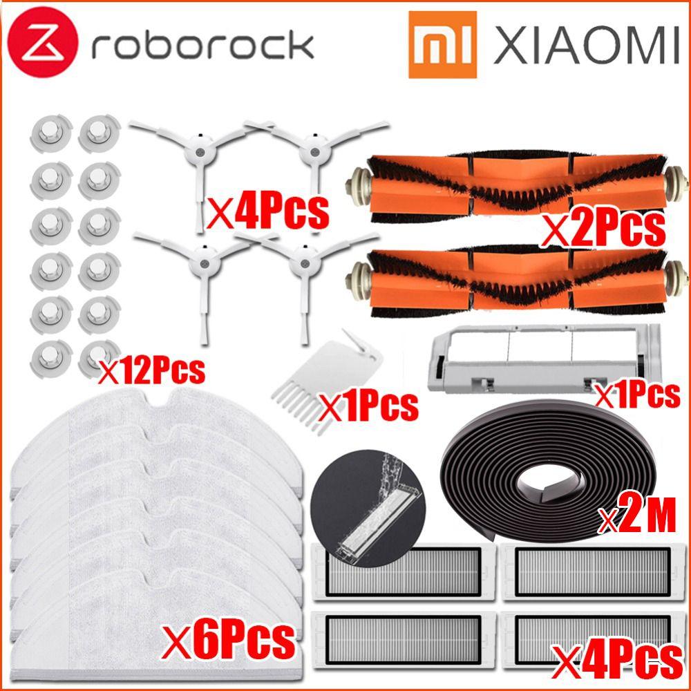 XIAOMI Mi robot aspirateur Partie Kit roborock S50 S51 Brosse Latérale Filtre HEPA Brosse Principale Outil De Nettoyage Vadrouille Chiffons mur virtuel