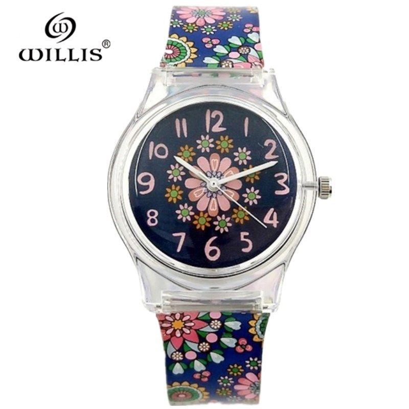 WILLIS marque femmes étanche montres à Quartz rétro fleurs Silicone montre de mode dames loisirs horloge robe montres