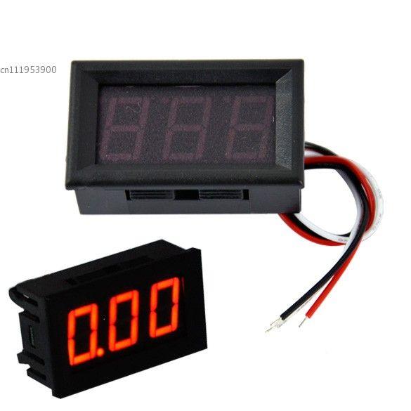 2014 New Arrival Portable Digital Voltmeter DC0-100V Red Light LED Panel Voltage Meter 38
