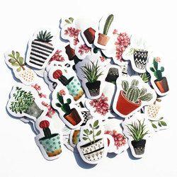 45 pcs/pack Mignon Cactus DIY Journal Planificateur Portable Pack Autocollants Post it Scrapbooking Album Collant Kawaii Papeterie 2018 Nouveau