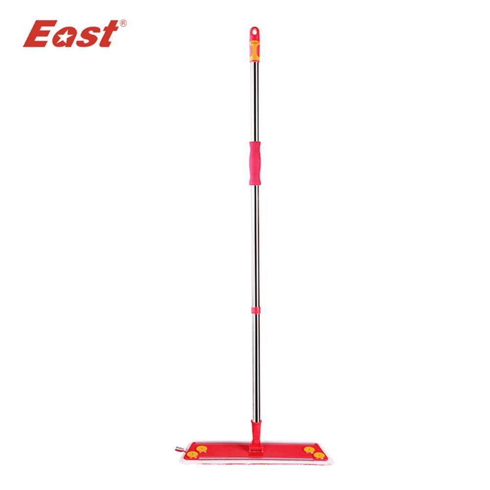 East home floor kitchen Wedding supplies cleaning floor mop Red flat telescopic mop with microfiber cloth towel