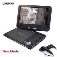 LONPOO Новый 9 дюймов портативный DVD плеер поворотный экран VCD CD MP3 DVD плеер USB SD карта RCA ТВ кабель Автомобильное зарядное устройство DVD плеер