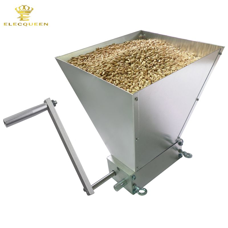 2017 Newest Stainless 2-roller Barley Malt Mill Grain Grinder Crusher For Homebrew Wholesale & Dropshipping