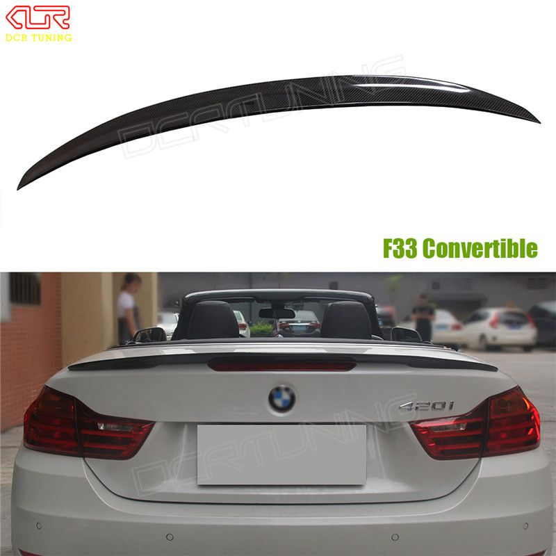 For BMW F33 Convertible 4 Series 420i 428i 435i F83 M4 Performance Style Carbon Fiber Rear Trunk Spoiler 2014 2015 2016 - UP