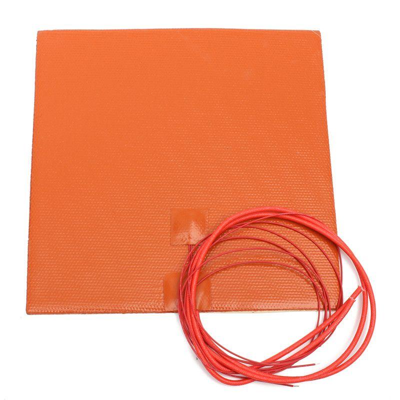 Nouveau Étanche Flexible Silicone Coussin Chauffant Chauffée pad pour 3D Imprimante Chauffage Rapide Et L'efficacité de Conversion Thermique Haute