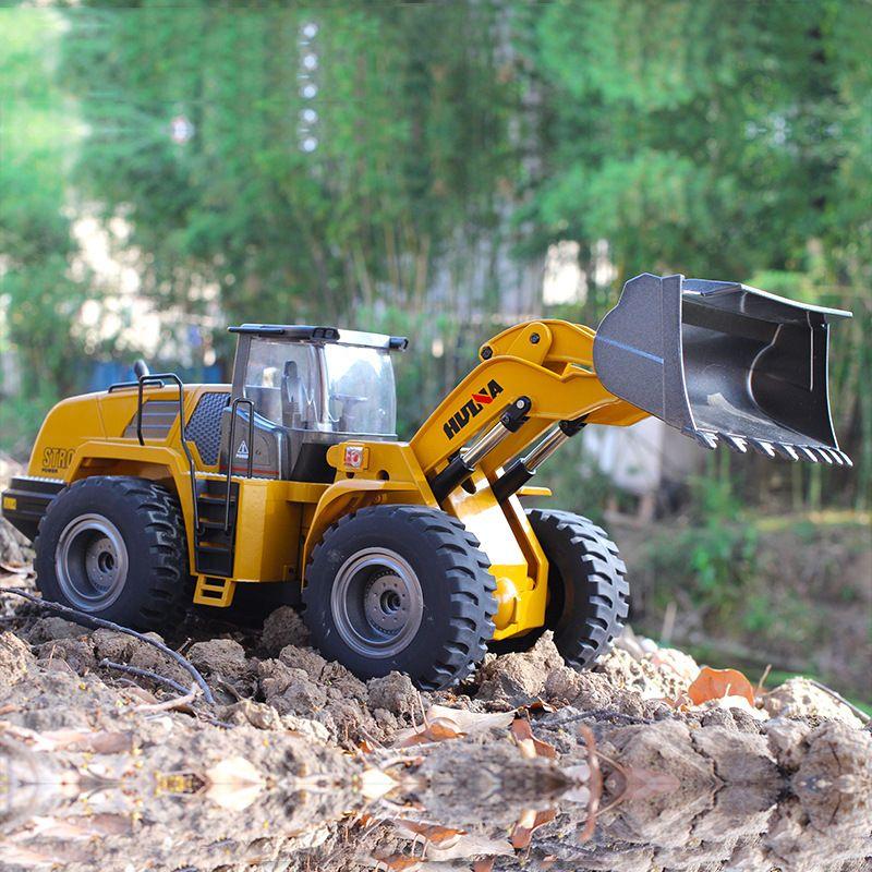 Große RC Lkw Hobby Bulldozer Legierung Lkw Fernbedienung Spielzeug für Jungen Autos Rc Hydraulische Off Road Construction Rc Spielzeug huina 583