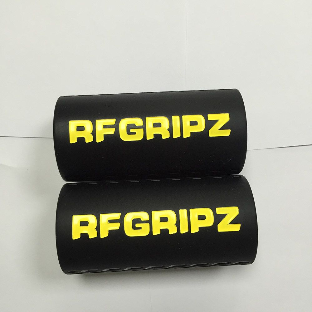 2 sizes 1 pair bright color filled Grips 2.0 - Extreme Arm Blaster - Best Dumbbell and Barbell Thick Bar Adapter black